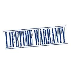 Lifetime warranty blue grunge vintage stamp vector