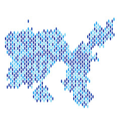 limnos greek island map population demographics vector image