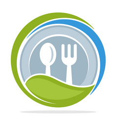 logo icon for organic food restaurant vector image