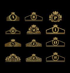 Luxury vintage logo ornament alphabet design vector