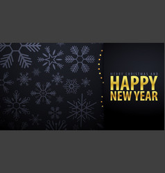 Marry christmas and happy new year banner on dark vector