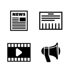 media simple related icons vector image