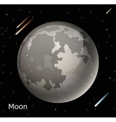 Moon planet 3d vector