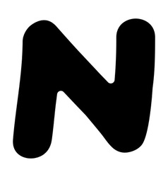 N capital silhouette vector