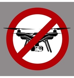 no fly zone airdrone quadrocopter vector image