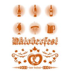 oktoberfest icon set vector image