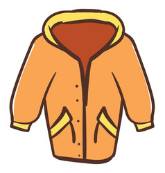 orange coat on white background vector image