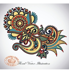 ornate flower design vector image