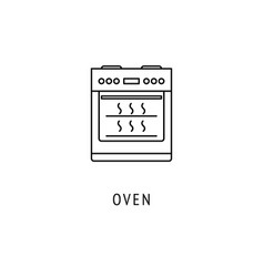 oven kitchen appliances icon vector image