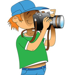 Photgrapher cartoon vector