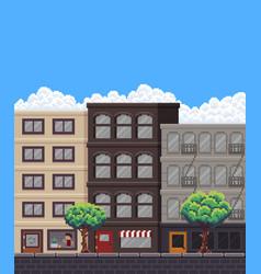 Pixel art street vector