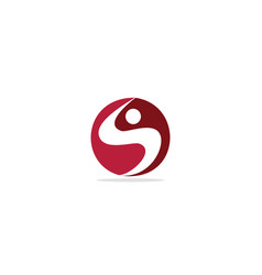 round s initial abstract logo vector image