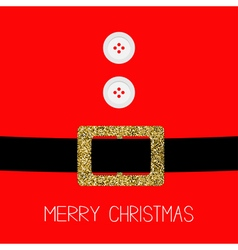 Santa Claus Coat with fur buttons Gold glitter vector image