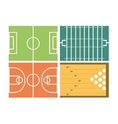Set concept icon court sport vector