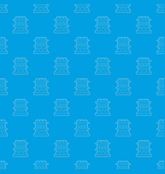 Shop shelves pattern seamless blue vector