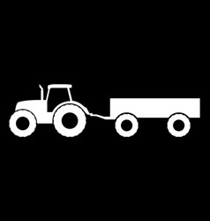 silhouette of a tractor with a trailer vector image