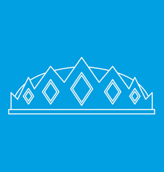 Small crown icon outline style vector
