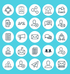 social icons set collection of speaking business vector image