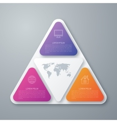 Steps Strategy in Triangle Shape vector image