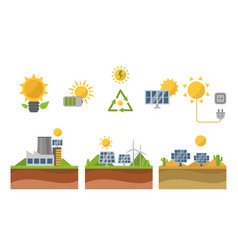 sun solar energy power electricity technology vector image