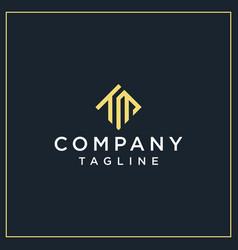 tm or tu square logo vector image
