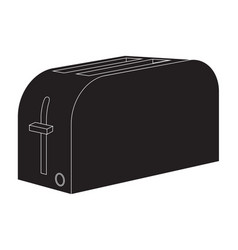 toaster black icon vector image
