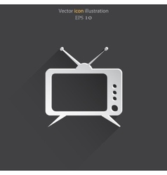 tv web icon vector image