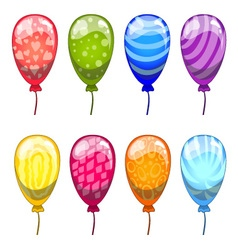 Ute cartoon balloons set vector