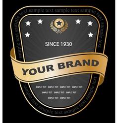 Vintage gold label vector