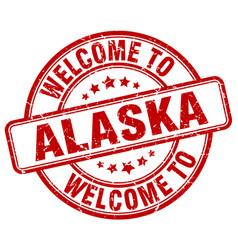 Welcome to alaska vector