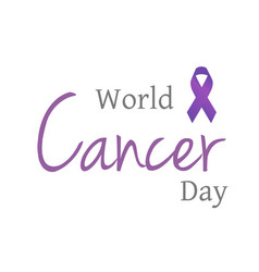 World cancer day celebrated on 4th february vector