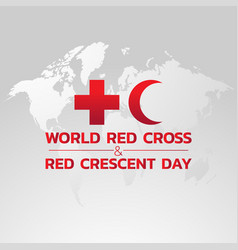 world red cross and red crescent day logo icon vector image
