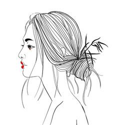 Young beautiful asian woman vector