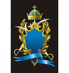 heraldry badge vector image vector image