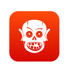 living dead icon digital red vector image vector image
