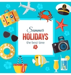 Summertime typographical background with place for vector image