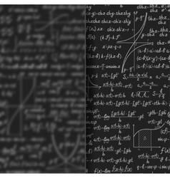Abstract math background behind matt glass banner vector image