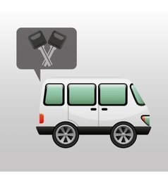 car van and keys icon graphic vector image vector image