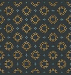monogram seamless pattern vector image vector image