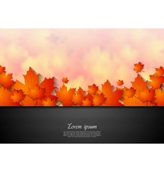 Bright corporate autumn background vector image vector image
