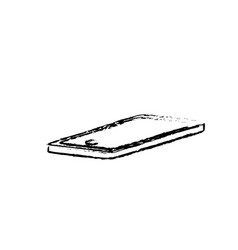 figure technology smartphone to electronic vector image vector image