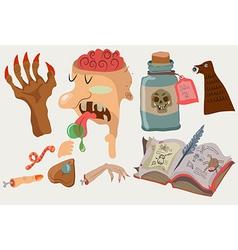 Halloween color funny set vector image