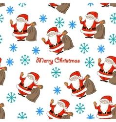 pattern with Santa vector image
