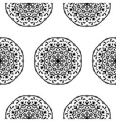 Seamless pattern with hand drawn mandalas vector image