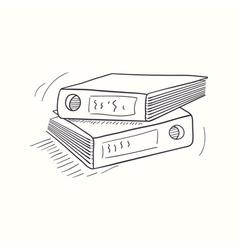 Sketched desktop archive folder icon vector image