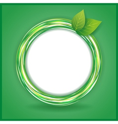 Abstract Eco background with leaves and circle vector image