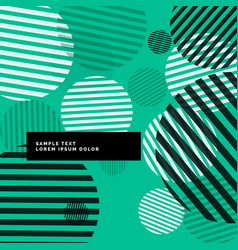 abstract modern circles with stripes background vector image vector image