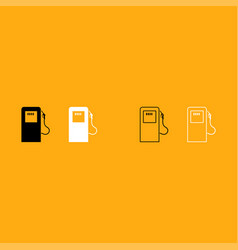 gas station it is white icon vector image