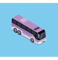 Isometric Bus Icon vector image