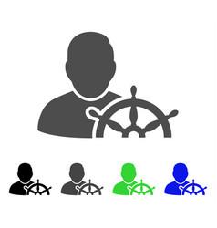 navigation captain flat icon vector image vector image